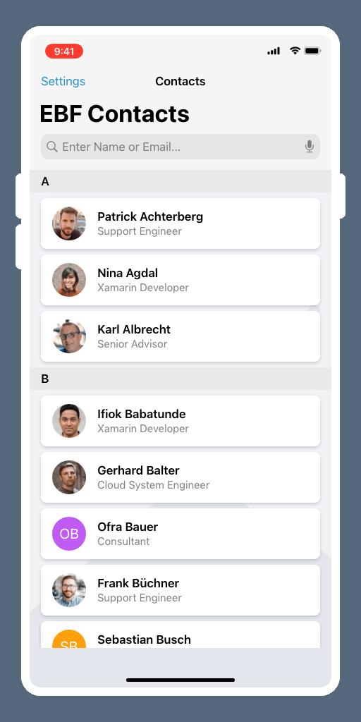 iOS Unternehmensadressbuch managen